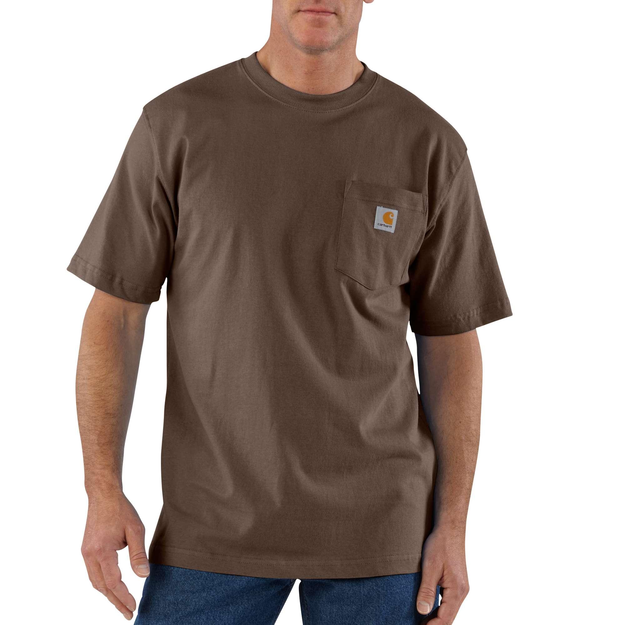 Men's Workwear Pocket T-shirt, Dark Brown,Dark Natural, swatch