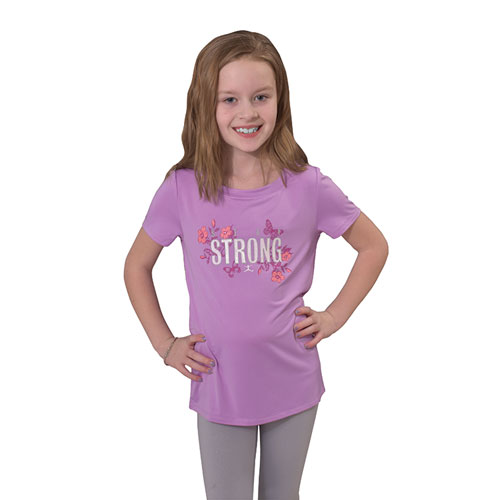 Girls' Stay Strong Shot Sleeve T-shirt, , large