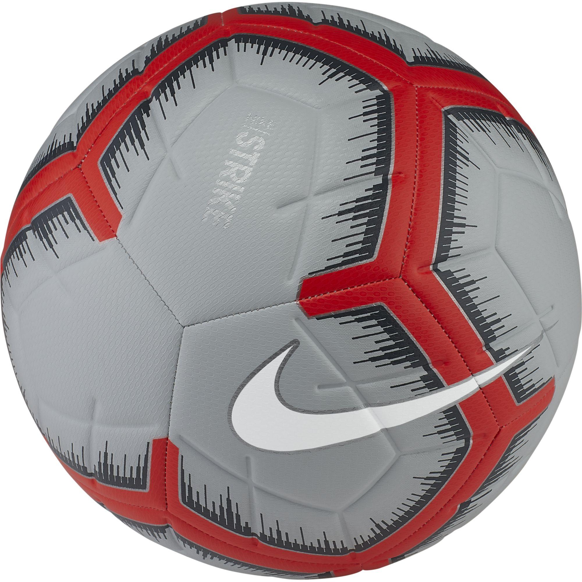 Strike Soccer Ball, Gray/Red, swatch