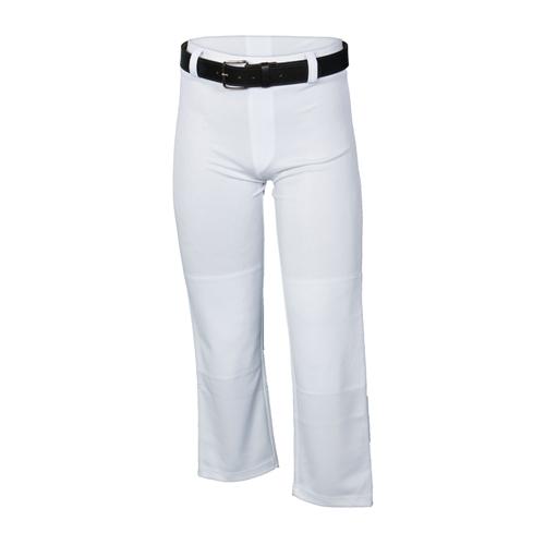 Youth Open Bottom Baseball Pant, White, swatch