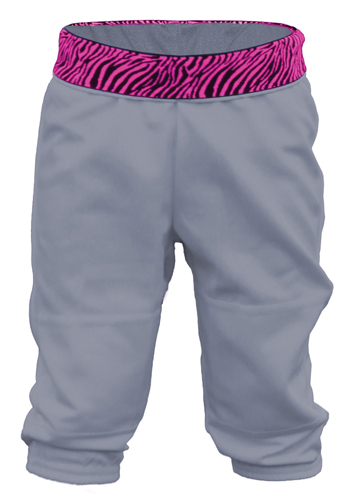 Girls' Wild Print Waistband Tee Ball Pant, , large