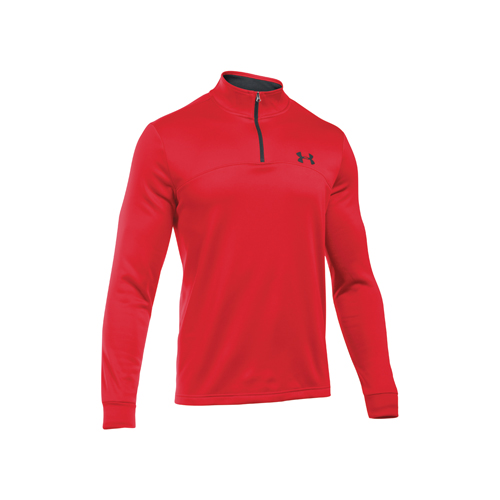 Men's Long Sleeve Armour Fleece Icon 1/4 Zip, Red/Black, swatch