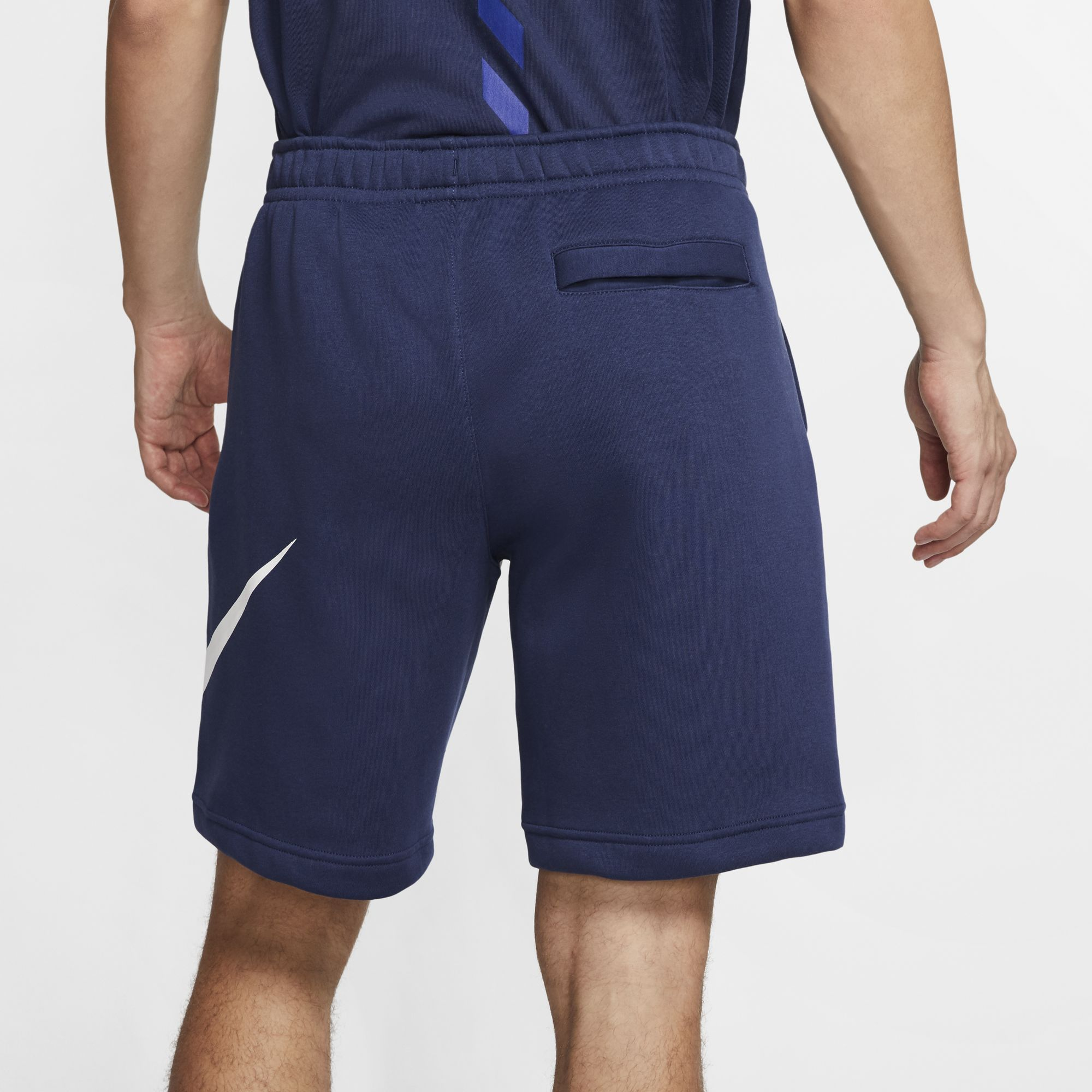 Men's Sportwear Club Graphic Shorts, Navy, large