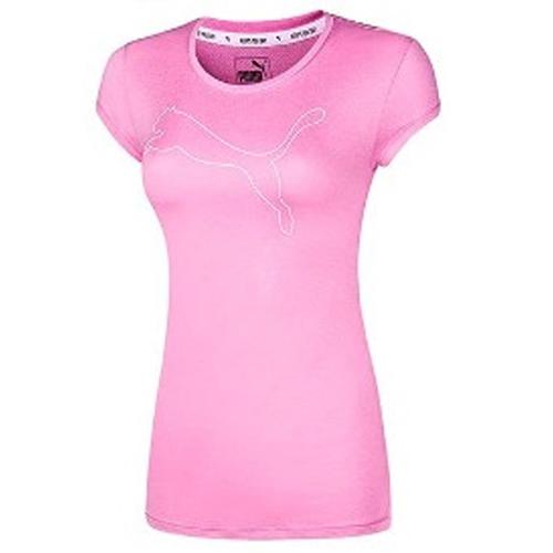 Women's Active Logo Tee, Pink, swatch