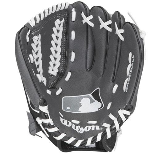 "Youth A150 MLB Series 10.5"" Baseball Glove, Gray/Black, swatch"