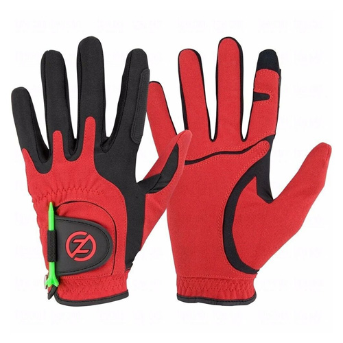 Men's Storm All Weather Compression Fit Golf Glove Pair, Red, swatch