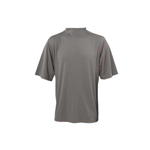 Men's Mock Turtleneck Short Sleeve Golf Shirt, Gray, swatch