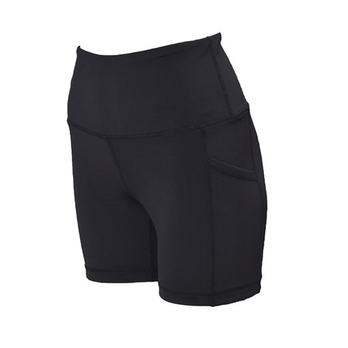 "Women's 5"" High Rise Shorts, Black, swatch"