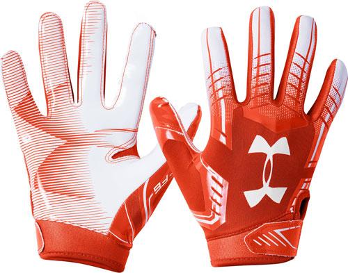 Adult F6 Football Gloves, Orange/White, swatch