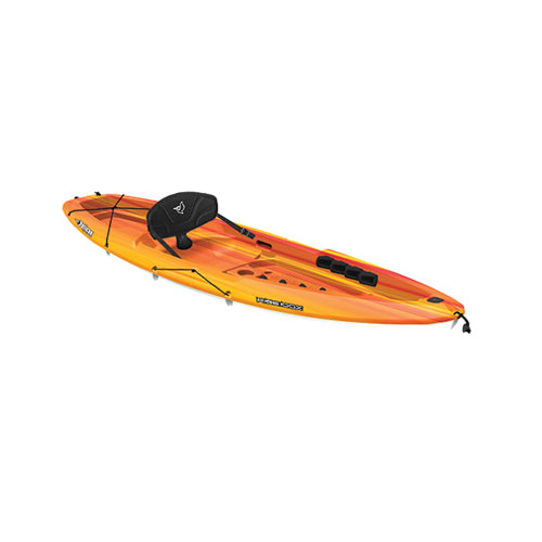 Rise 100X Fade Sit-On Kayak, Bright Red/Yellow, swatch