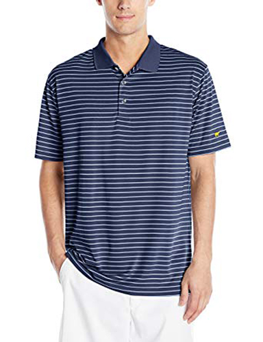 Men's Striped Polo, Navy, swatch