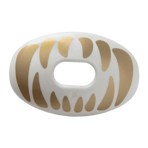 Predator Oxygen Lip Mouthguard, White/Gold, swatch