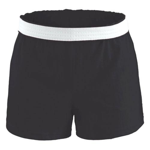 Women's Cheer Shorts, Black, swatch