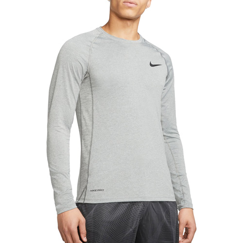 Men's Slim Fit Long-Sleeve Top, Heather Gray, swatch