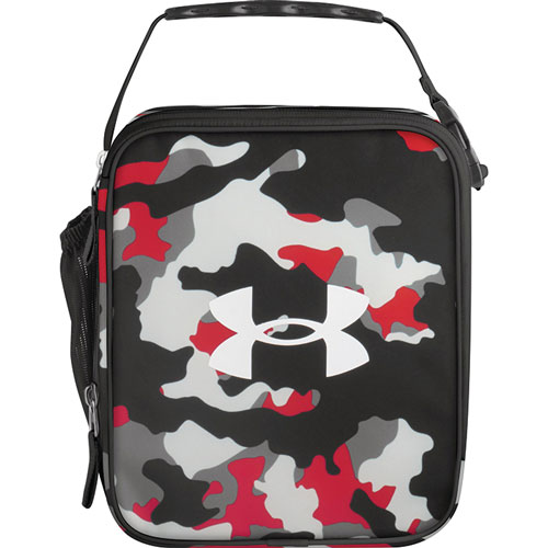 UA Scrimmage Lunch Box, Black/Red/White, swatch