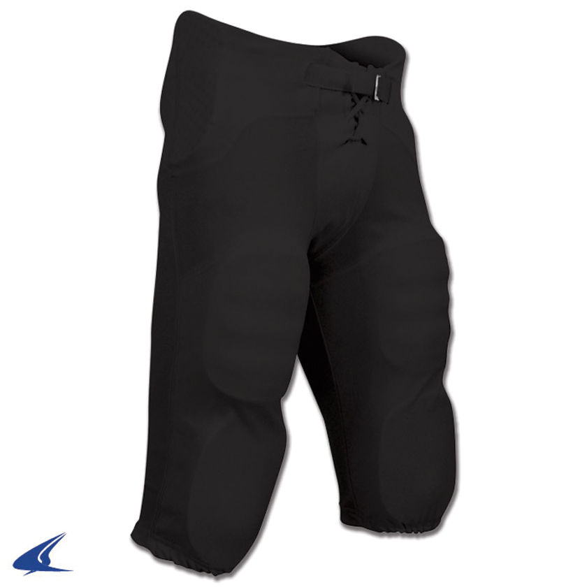 Youth Integrated Football Pant, Black, swatch