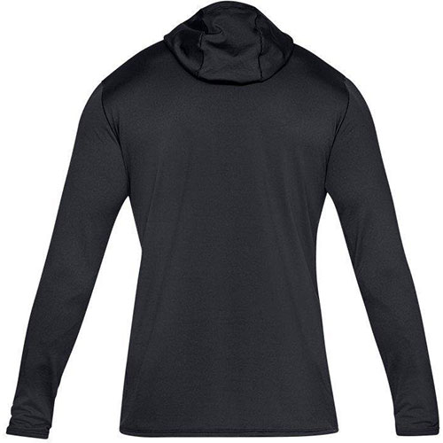 Men's Long Sleeve ColdGear Fitted Hoodie, Black, swatch