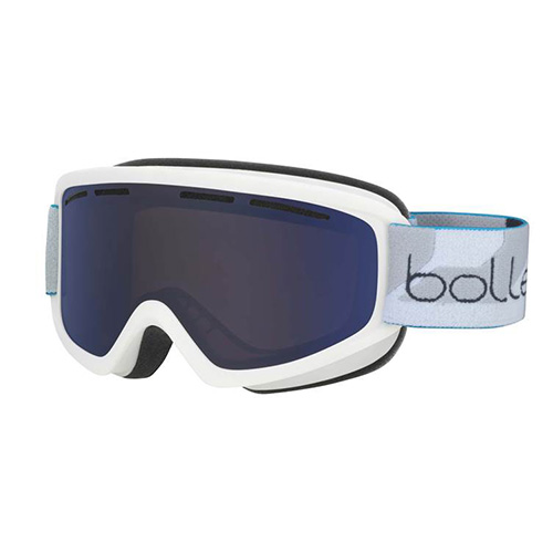 Adult Schuss Snow Goggle, White/Blue, swatch