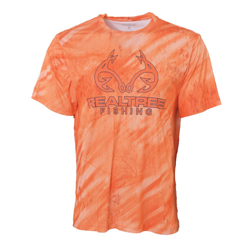 Fishing Men's Short Sleeve Logo Fishing Tee, Orange, swatch
