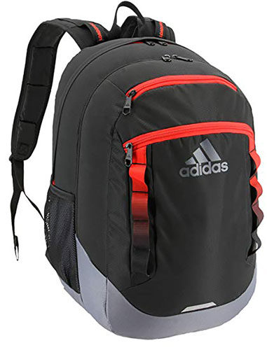 Excel IV Backpack, Gray/Orange, swatch