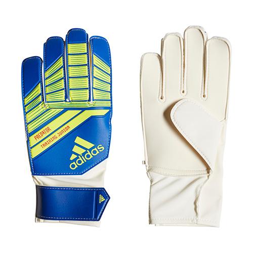 Junior Predator Goalie Gloves, Br Yellow/Blue, swatch