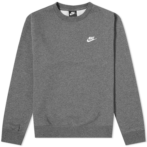 Men's Sportswear Club Crewneck Sweatshirt, Charcoal,Smoke,Steel, swatch