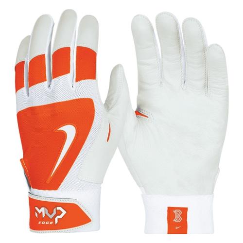 Men's MVP Edge Batting Gloves, Orange, swatch