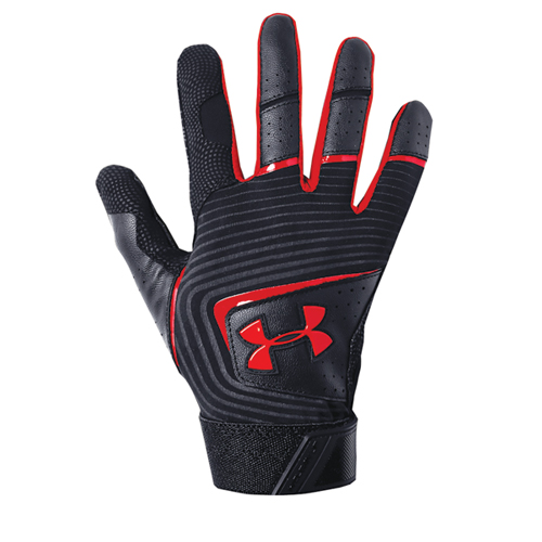 Youth Clean Up Baseball Glove, Black/Red, swatch