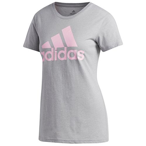 Women's Classic Logo T-Shirt, Gray/Pink, swatch