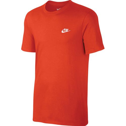 Men's Embroidered Futura Short Sleeve Tee, Orange, swatch