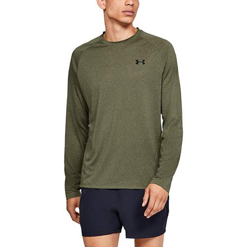 Men's Tech Long Sleeve T-Shirt, Dkgreen,Moss,Olive,Forest, swatch