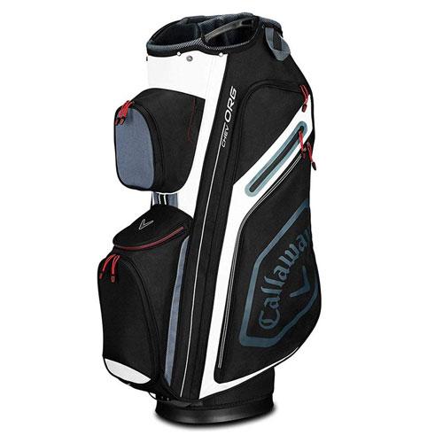 Chev Cart Golf Bag, Black/White, swatch