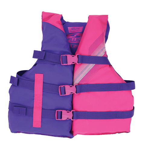Youth 3 Buckle Vest, Pink, swatch