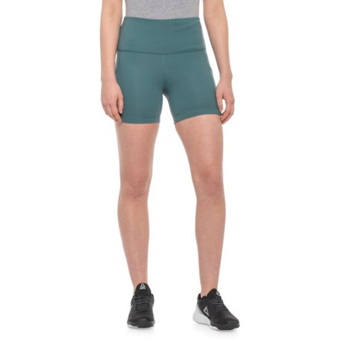 "Women's 5"" High Rise Shorts, Green, swatch"