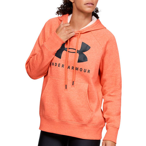 Women's Rival Fleece Tonal Grapic Hoodie, Orange, swatch
