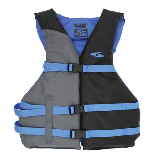 Men's 3 Buckle Vest, Royal Blue/Navy, swatch