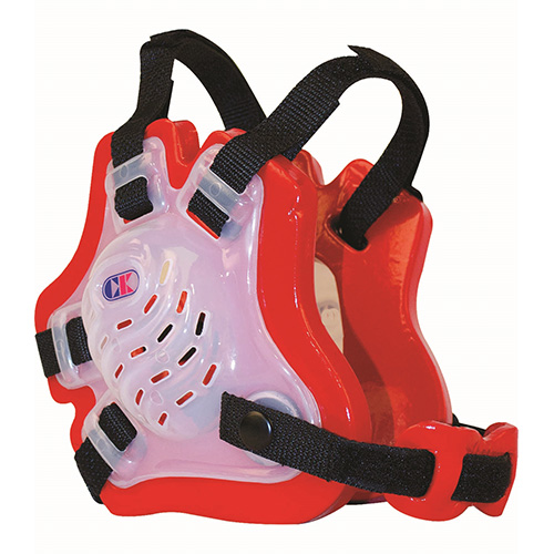 Youth Tornado Earguard, Red/Black, swatch