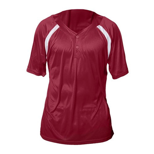 Youth Henley Game Jersey, Maroon/White, swatch