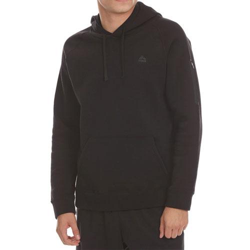 Men's CVC Fleece Pullover Hoodie, Black, swatch