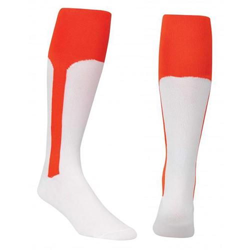 Youth Stirrup Baseball Socks, Orange, swatch