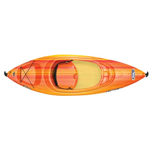 Ultimate 80x Sit-in Kayak, Red/Yellow, swatch