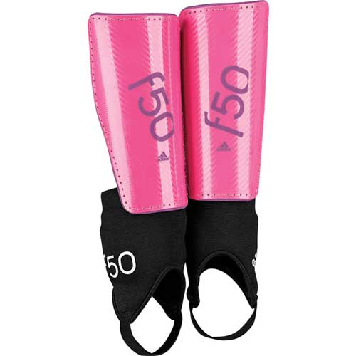 Youth F50 Shin Guards, Pink, swatch