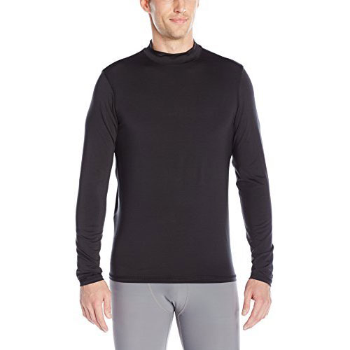 Long Sleeve Cold Weather Mock Shirt, Black, swatch