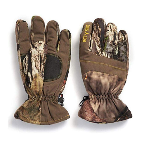 Insulated Hunting Glove, Mossy Oak, swatch