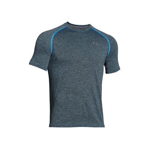 Men's Short Sleeve Tech T-Shirt, Blue/Black, swatch