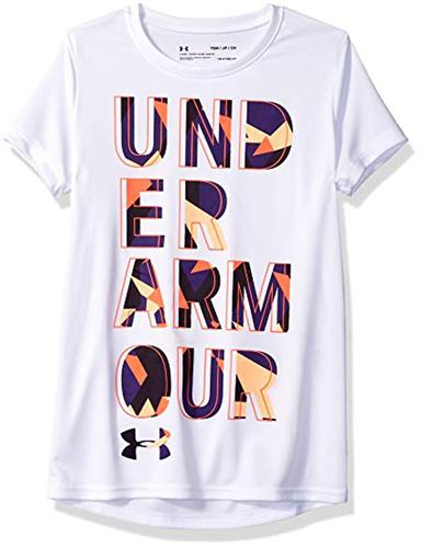 Big Girl's Logo-Print T-Shirt, White, swatch