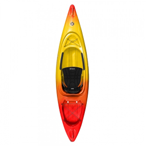 Impulse 10.0 Sit-In Kayak Package, Red/Yellow, swatch
