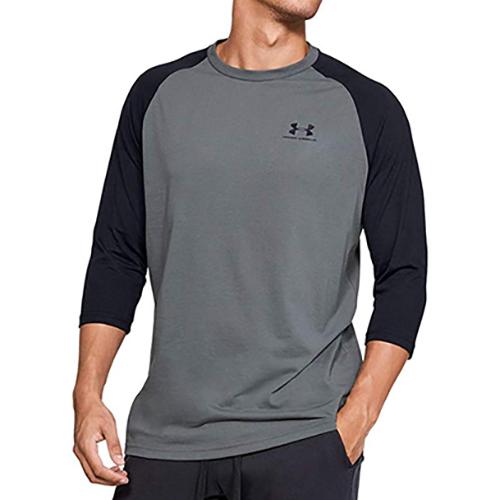 Men's Sportstyle Logo T-Shirt, Heather Gray, swatch