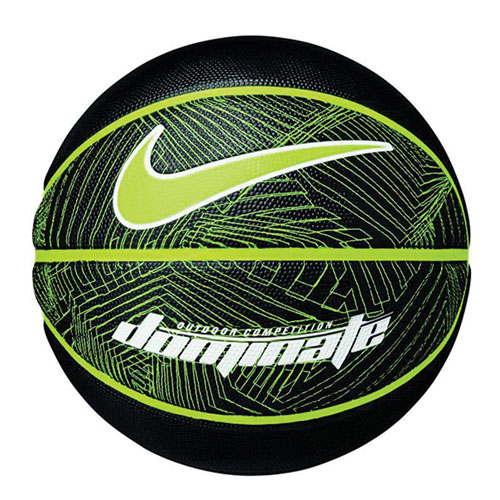 Dominate Official Basketball, Black/Neon, swatch