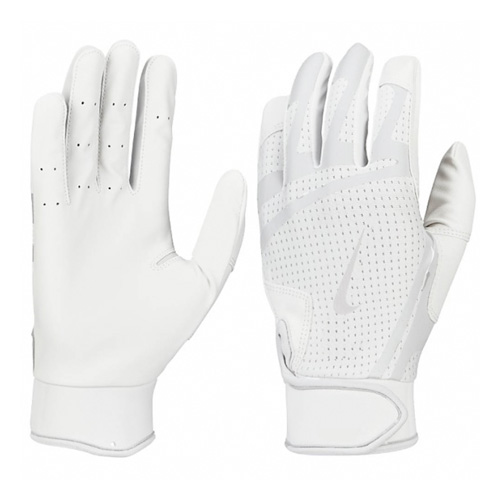 Men's Huarache Edge Batting Gloves, White, swatch